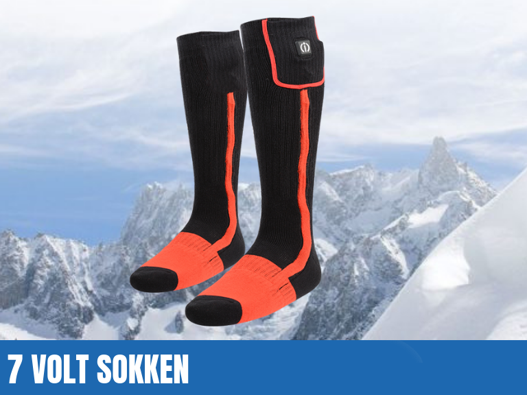 7 Volt elektrisch verwarmde sokken